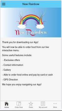 New Rainbow Chinese Takeaway apk screenshot