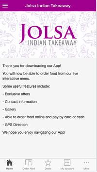 Jolsa Indian Takeaway apk screenshot