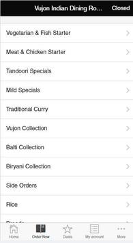 Vujon Indian Dining Room apk screenshot