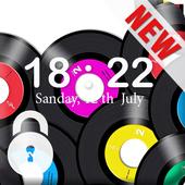 Vinyl Disc HD Lock icon