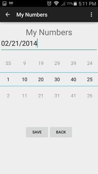 Lottery Predictor screenshot 2