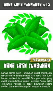 Nama Latin Tumbuhan poster