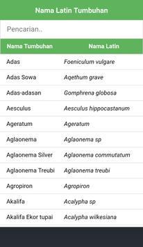 Nama Latin Tumbuhan screenshot 1