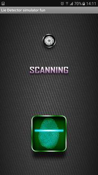 Lie Detector simulator fun poster