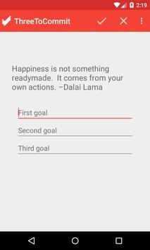 3 goals to commit screenshot 2