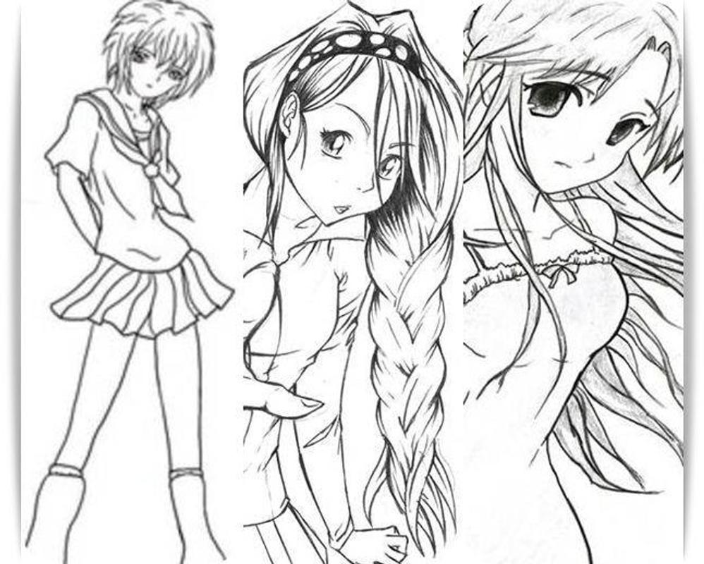 how to draw japanese anime girl