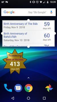 Bahá'í Holy Days Countdown screenshot 1