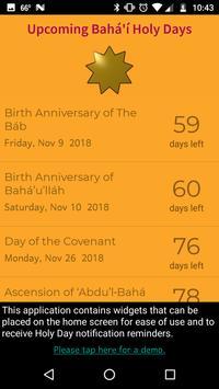 Bahá'í Holy Days Countdown screenshot 2