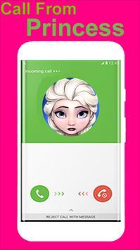 Call Free From Elsa Fake screenshot 2