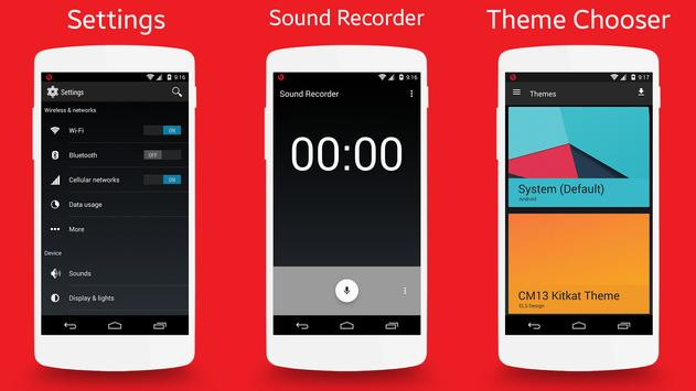CM13 KitKat 4.4 Theme apk screenshot