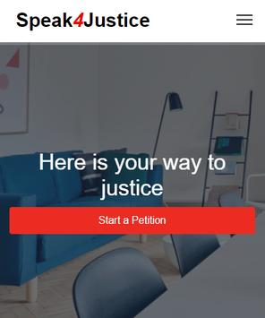 Speak 4 Justice : Sign Online Petition poster