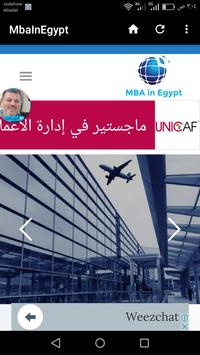 MBA in Egypt poster