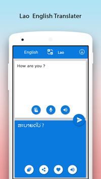 Lao English Translator apk screenshot