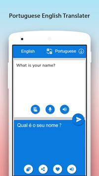 Portuguese English Translator apk screenshot