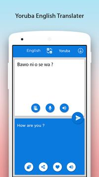 Yoruba English Translator apk screenshot