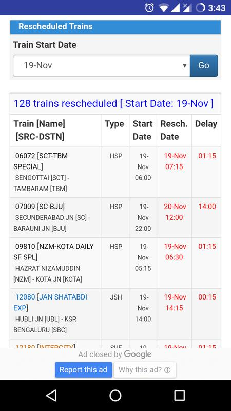 Live Train Status Pnr Status Ntes Indian Rail For Android