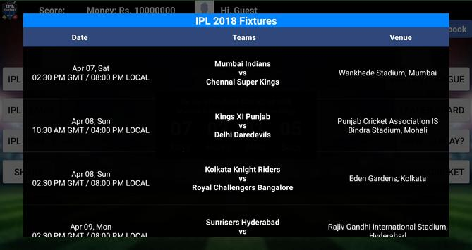 Fantasy League for IPL 2018 apk screenshot