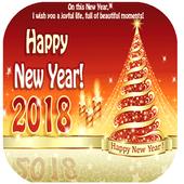 Happy year 2018 icon