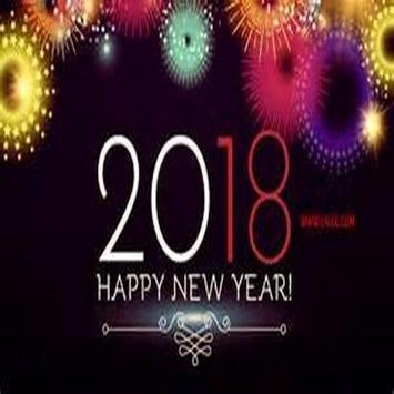 Happy year 2018 poster