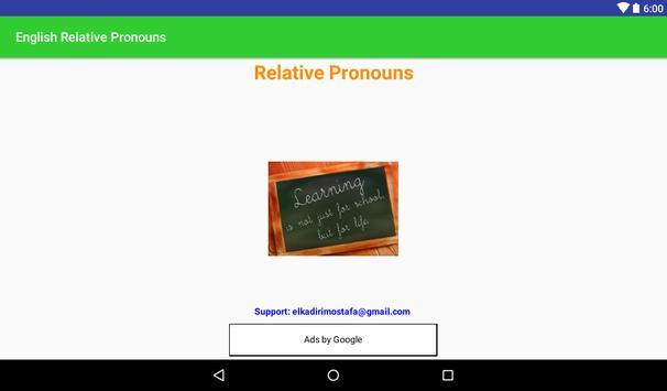 ENGLISH RELATIVE PRONOUNS screenshot 11