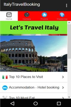 Italy Travel Booking poster