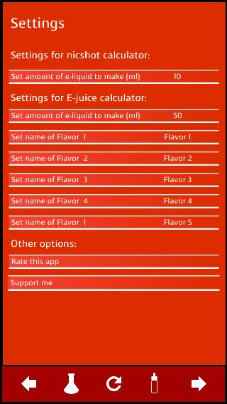 Nicotine Shot & E-Juice Mix Calculator for Android - APK