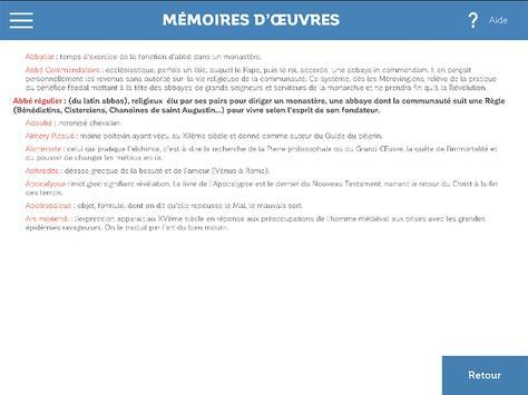 Mémoires d'œuvres screenshot 3