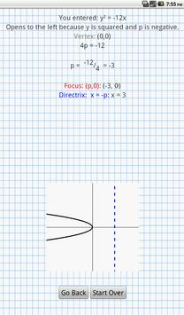 Conic Sections Solver screenshot 8