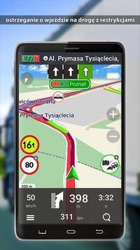 MapaMap Truck Polska poster