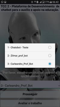 TCC2 - Plataforma de desenvolvimento de chatbot apk screenshot