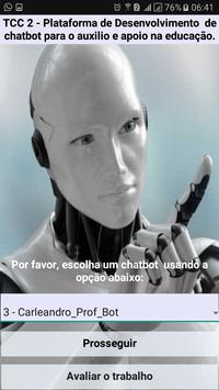 TCC2 - Plataforma de desenvolvimento de chatbot poster