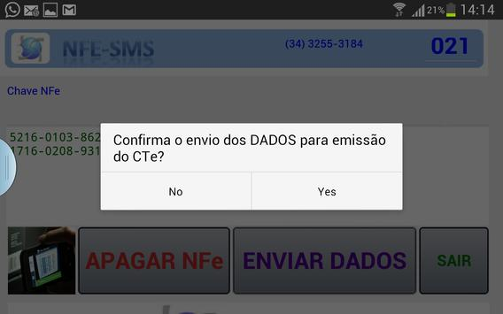 Captura/Envia NFe Emissão CTe apk screenshot