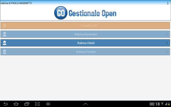 Rubrica GO apk screenshot
