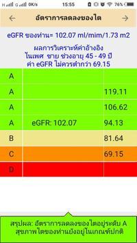 Thai CKD risk calculation screenshot 1