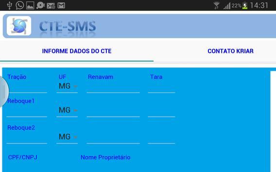Envia Dados p/ Emissão de CTe screenshot 4