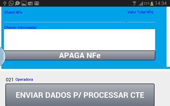 Envia Dados p/ Emissão de CTe screenshot 2