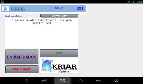 Coleta Mercadoria Transporte apk screenshot