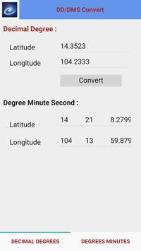 แปลงค่าพิกัดภูมิศาสตร์ DMS-DD apk screenshot