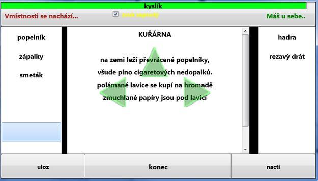 česká textová hra PŘISTÁNÍ screenshot 1