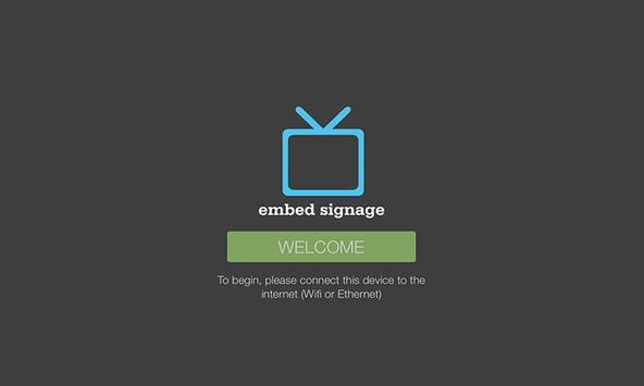 embed signage apk screenshot