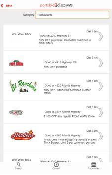 Portable Discounts apk screenshot