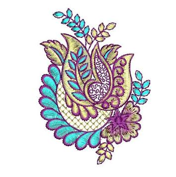 Embroidery Patterns Affiche