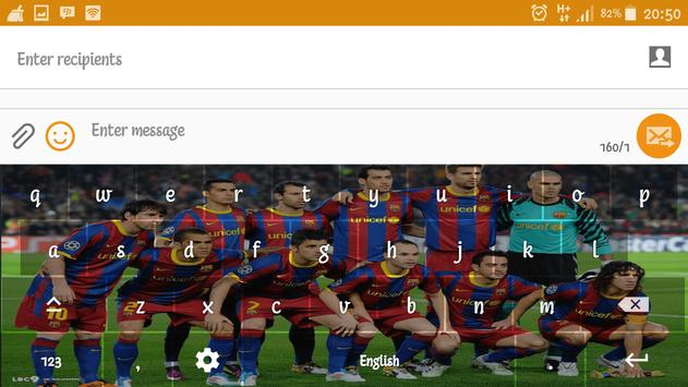 Barca Barcelona Keyboard screenshot 12