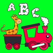 Kids animal ABC train games icon