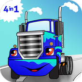 Car truck games for kids free icon