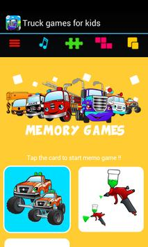 Car truck games for kids free apk screenshot