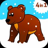 Kids ABC animal Zoo games 2 icon