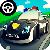 Cop car games for little kids-icoon