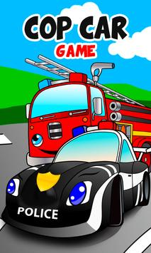 Cop car games for little kids-poster
