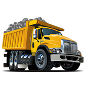Dump truck games free आइकन